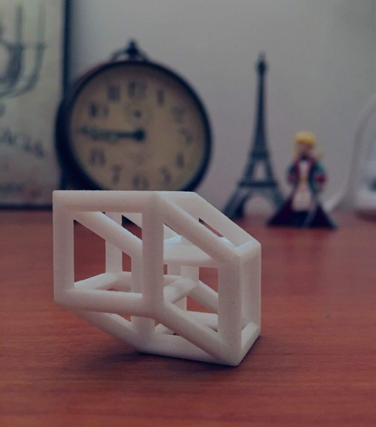 A 3D Printed Tesseract at Drake University
